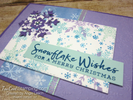 Snowflake Wishes For a Merry Christmas - grape 3