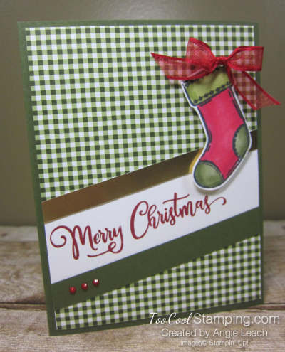Tag Buffet Merry Christmas Stocking - olive