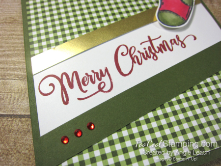 Tag Buffet Merry Christmas Stocking - olive 2