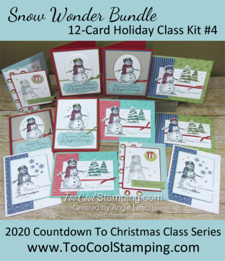 Snow wonder 12-card live class banner
