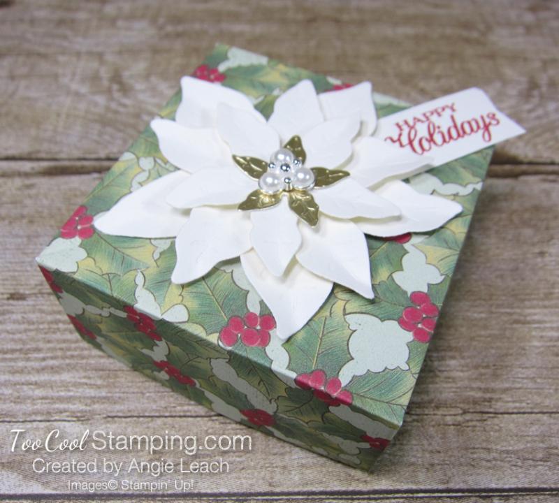 Poinsettia place box - berries