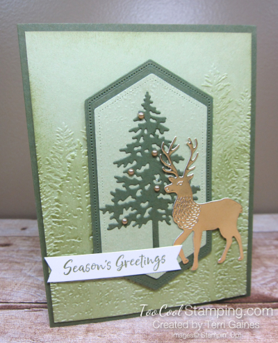 Evergreen deer - gaines