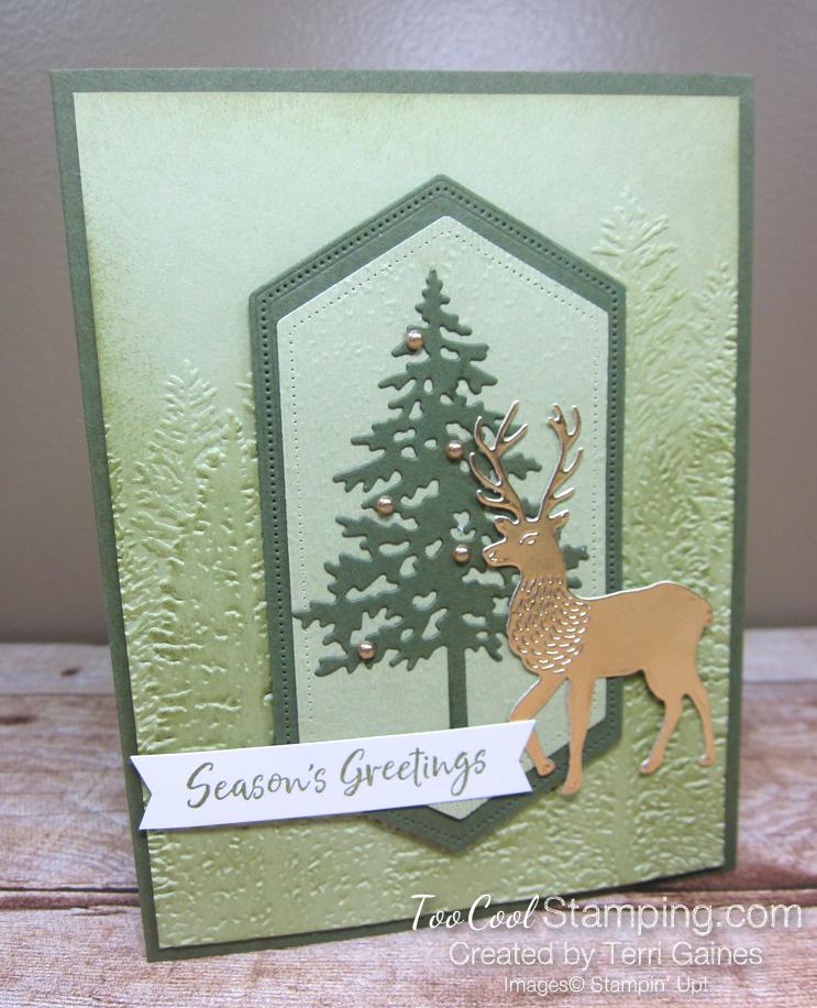 Evergreen deer - gaines