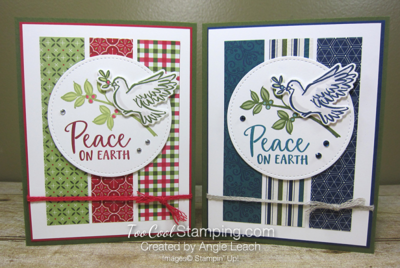 Dove of hope peace on earth strips - two cool
