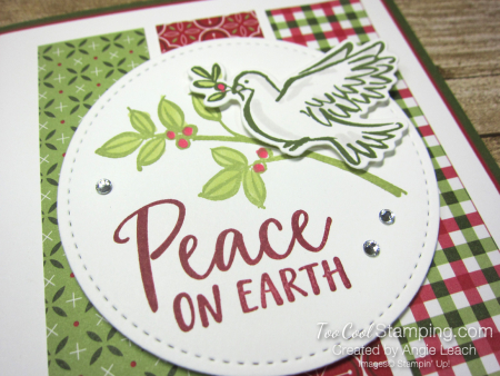 Dove of hope peace on earth strips - red 3