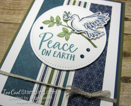 Dove of hope peace on earth strips - blues 2