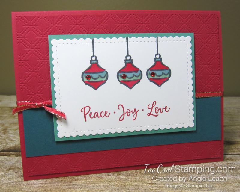 Dove of hope ornament trio - red