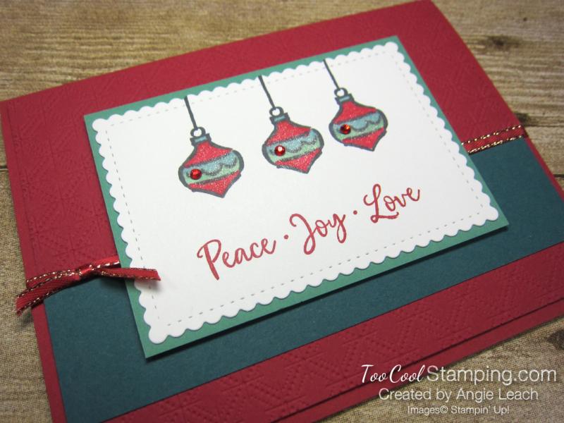 Dove of hope ornament trio - red 2
