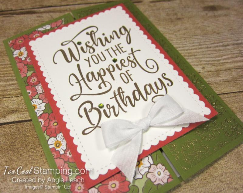 Happiest of Birthdays gate fold - olive 2