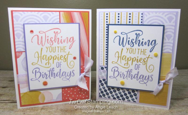 Happiest of Birthdays blocking - two cool