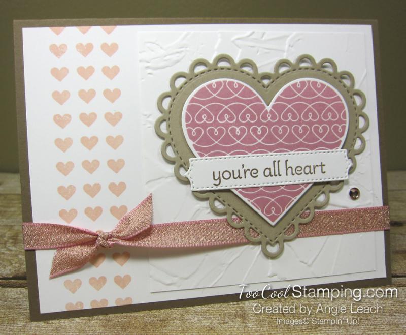 Lots of Heart mini heart border - rose