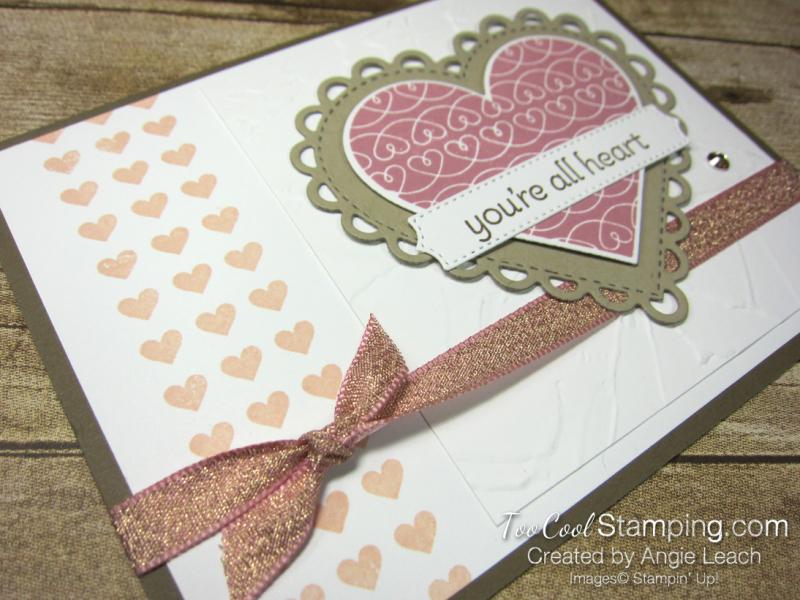 Lots of Heart mini heart border - rose 3