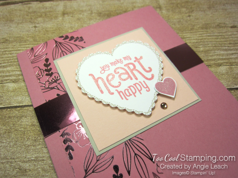 Punch Party Happy Heart - rose 2