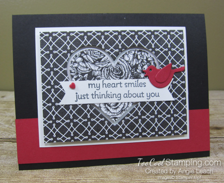 Lots of Heart recessed hearts - black