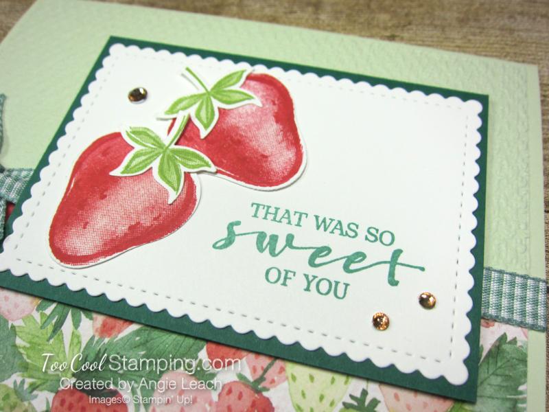 Sweet strawberry pair - sea foam 2