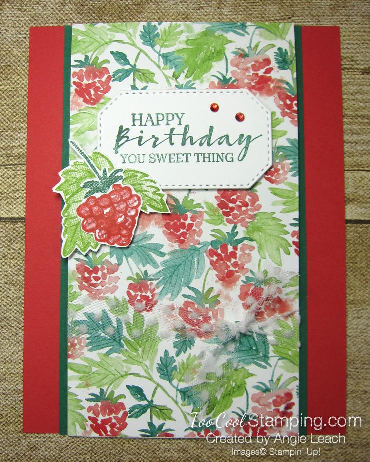 Berry blessings birthday center flap - poppy