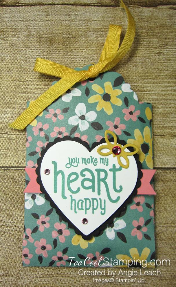 Delightful tag topper pouch - flower flirty