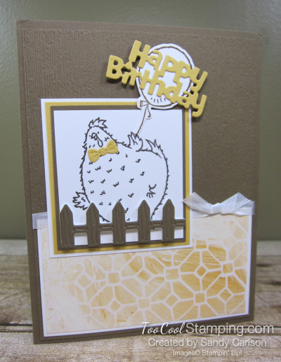 Birthday chick popped fence - carlson 1