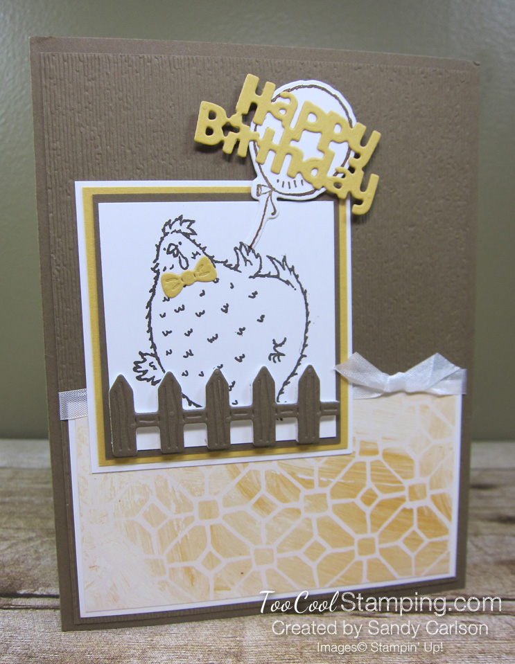 Birthday chick popped fence - carlson 1