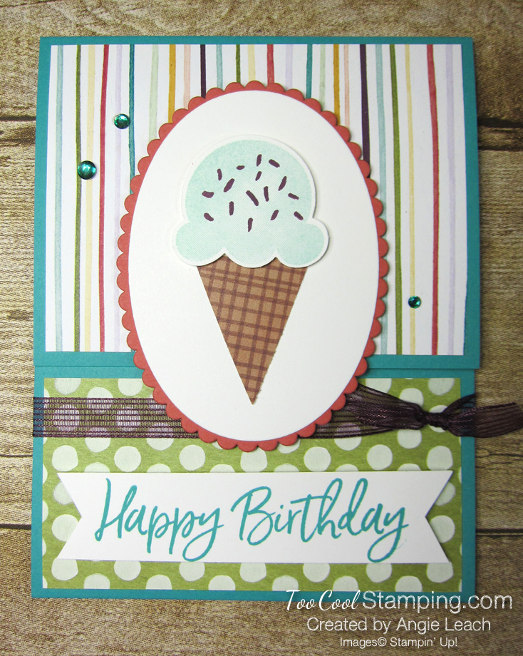 Ice cream corner gift card holder - bermuda 1