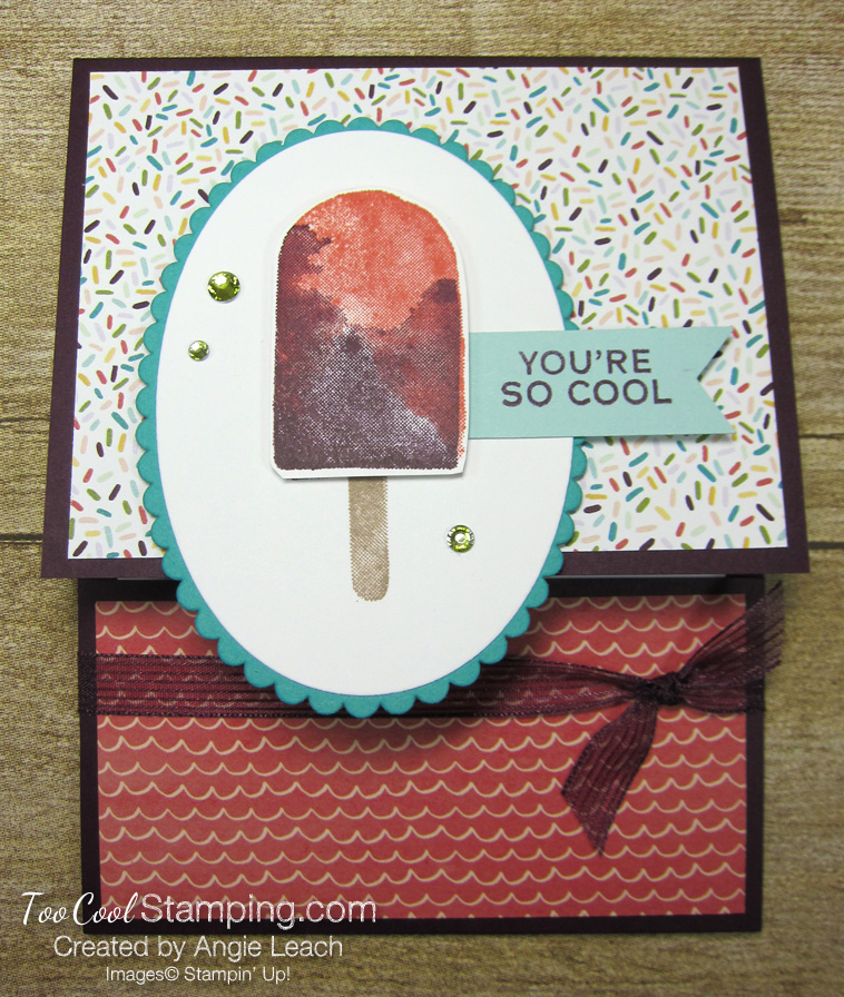 Ice cream corner gift card holder - blackberry 1