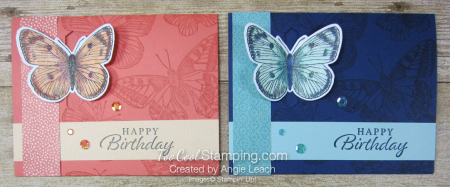 Butterfly Brilliance Emerging Butterfly Cards - two cool