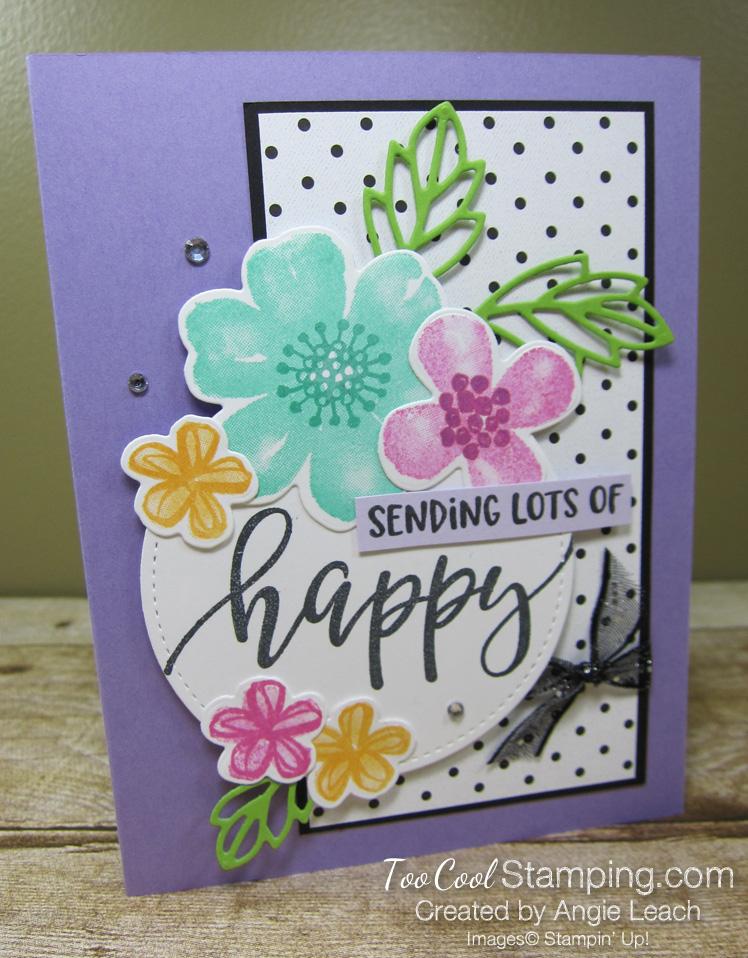Pretty Perennials Polka Dot Collage - heather