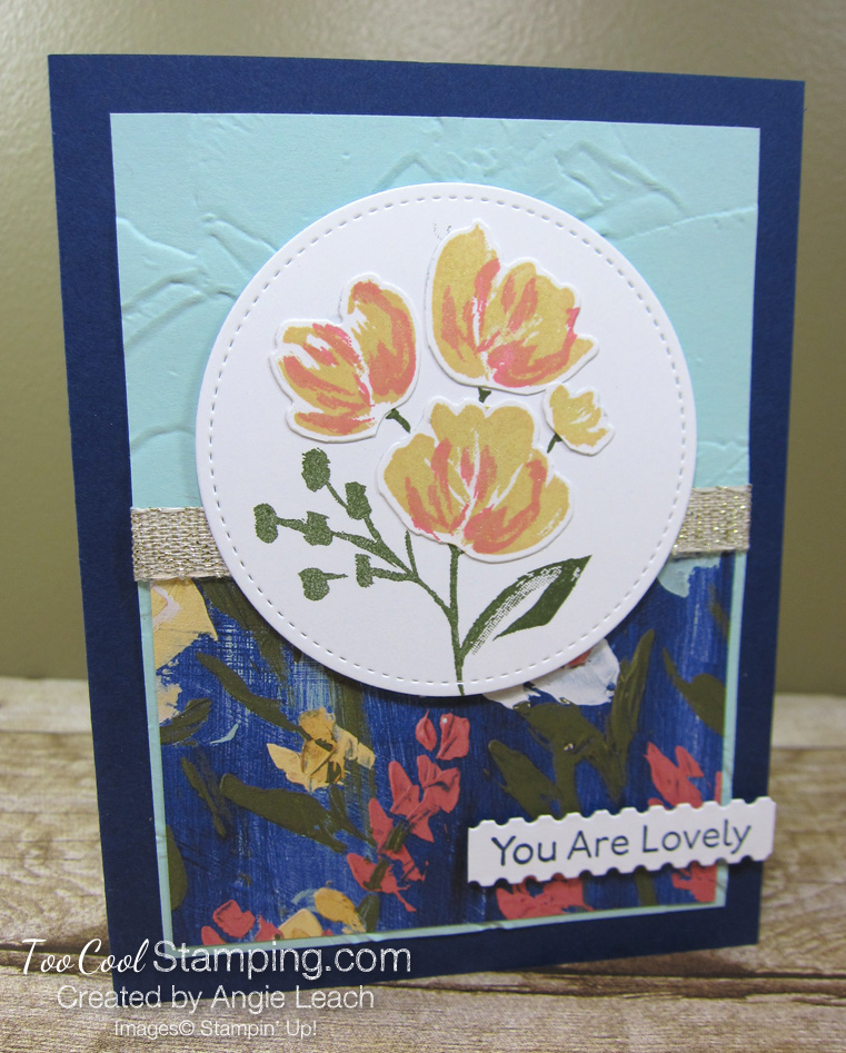 Art gallery layered blooms - navy