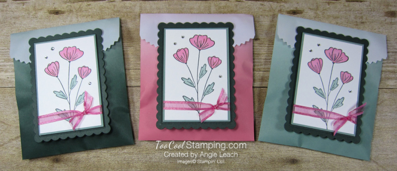 Flowers of friendship ombre gift bag - trio
