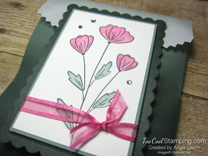 Flowers of friendship ombre gift bag - evergreen 2