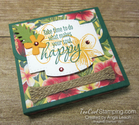 Tropical oasis sticky note holder - spruce
