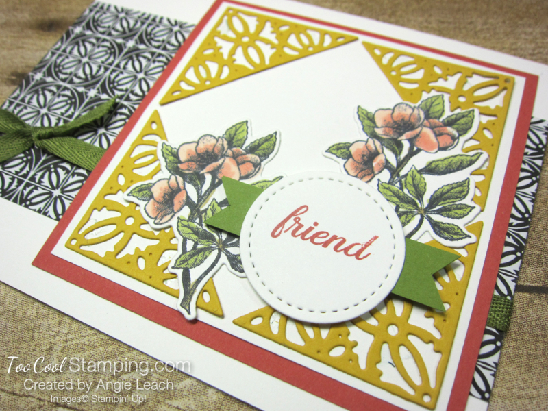 Botanical prints crushed curry decorative corners 2