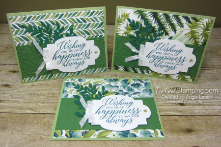Forever Greenery - Wishing You Happiness Leaves trio