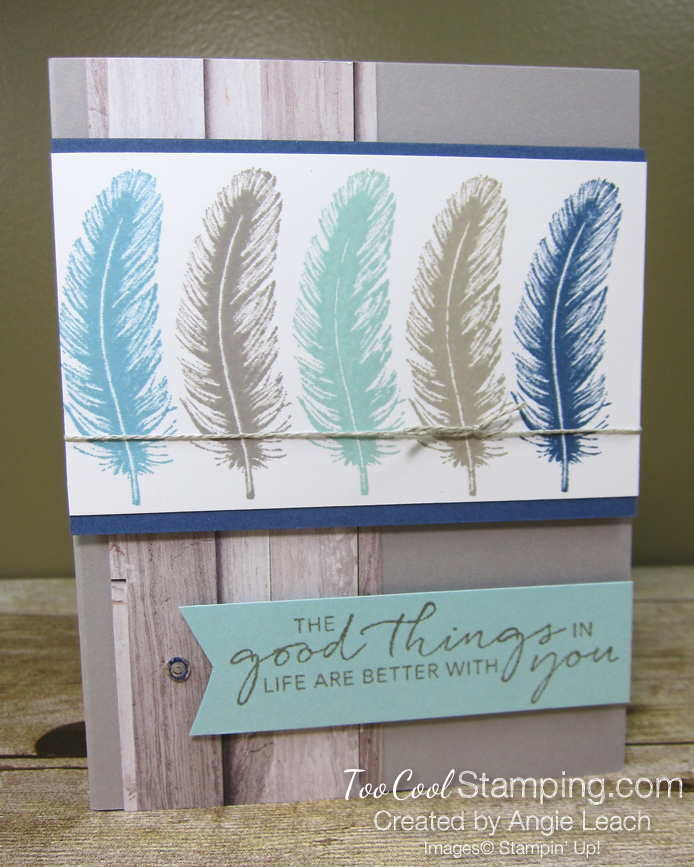 Tasteful touches repeated stamping - feather