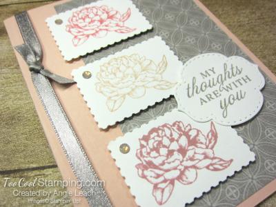 Prized Peony Postage Stamp Trio - petal 2