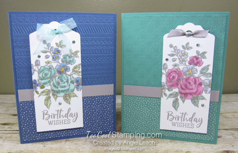Fancy phrases birthday tag - two cool