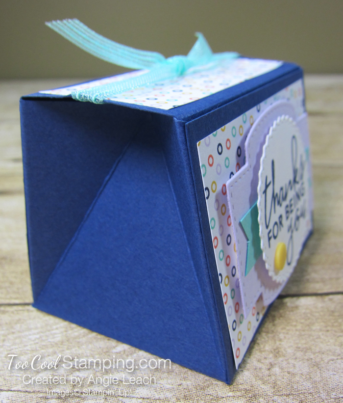Playing with patterns tapered boxes - navy