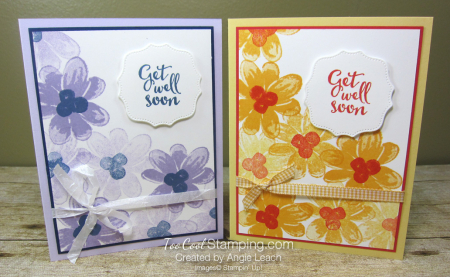 Gorgeous Posies Kit Cards - Get Well Soon two cool