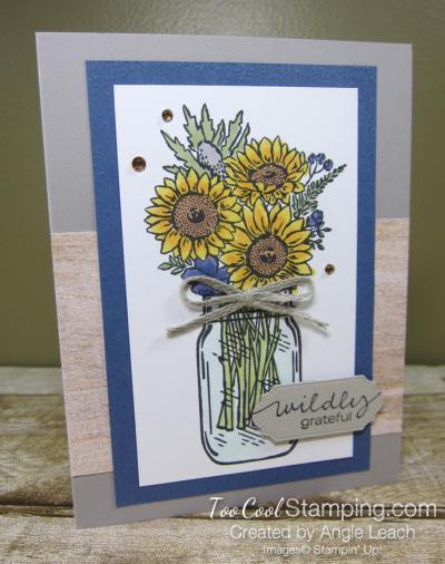 Jar of flowers wildly grateful - misty moonlight 1
