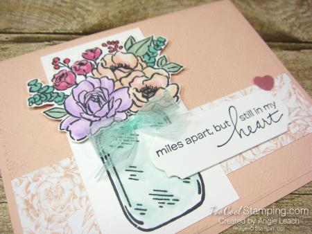 Jar of flowers miles apart - petal pink 2