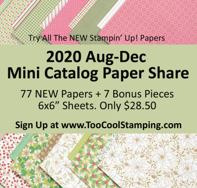 2020 Aug-Dec Mini Catalog Paper Share Banner
