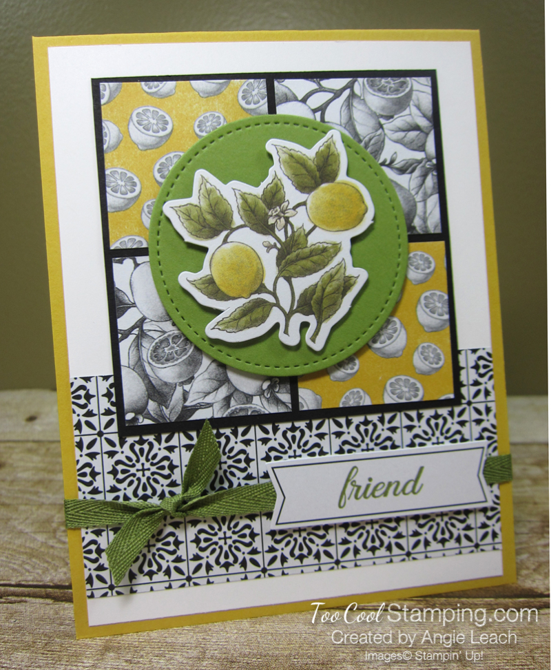 Botanical prints lemon squares 1