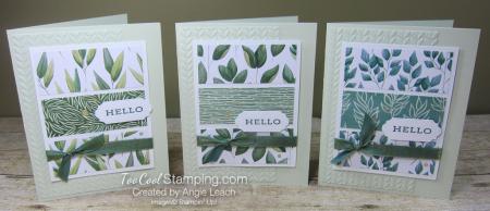 Forever Greenery - hello 3 panel trio