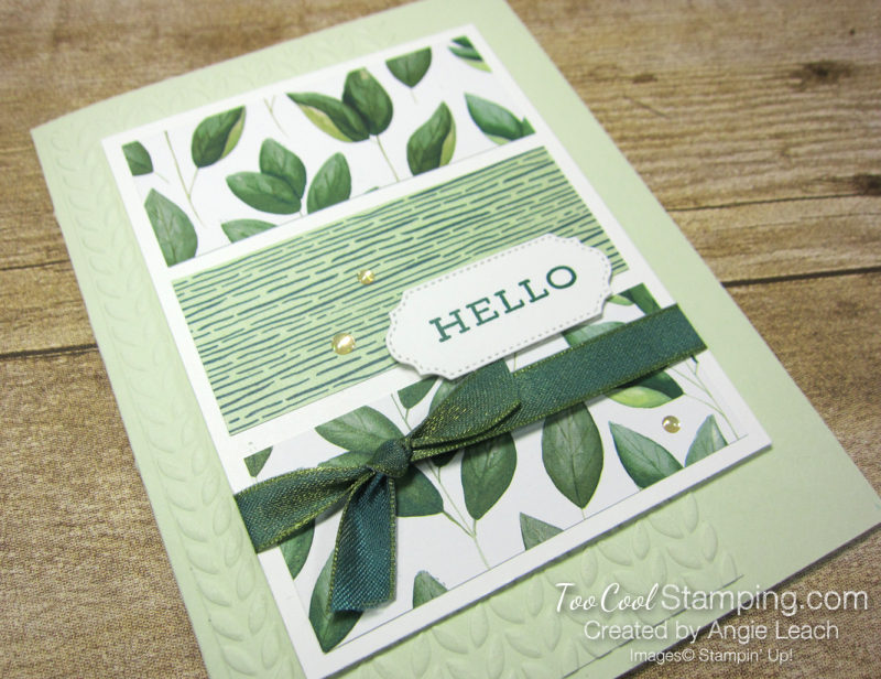 Forever Greenery - Hello 3-Panel Card 2