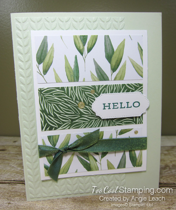Forever Greenery - Hello 3-Panel Card B1