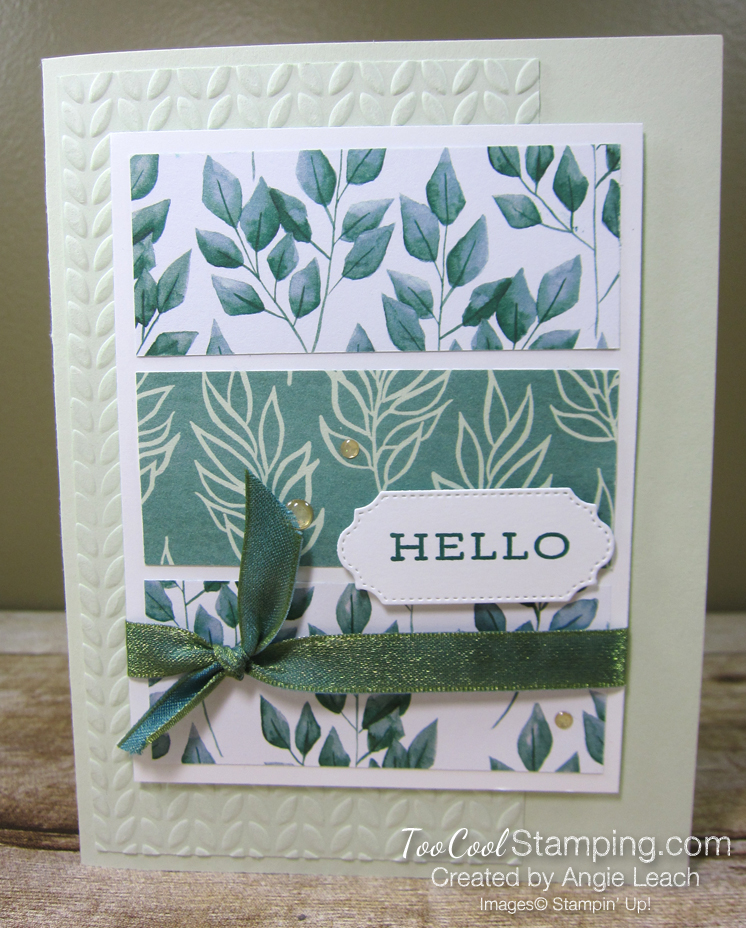 Forever Greenery - Hello 3-Panel Card C1