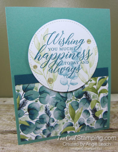 Forever Greenery - Wishing You Happiness Circle C1