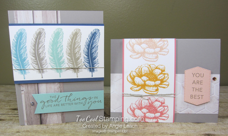 Tasteful touches repeated stamping - two cool