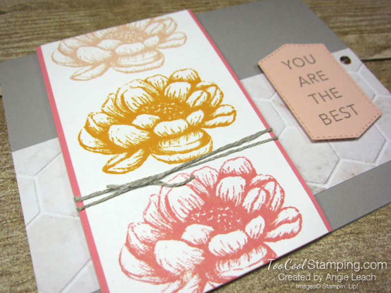 Tasteful touches repeated stamping - flower 2