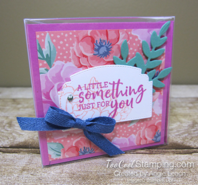Flowers For Every Season 3x3 Acetate Treat Box - coral misty 1
